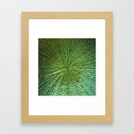 Emerald Ripple Framed Art Print