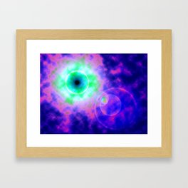 Space Eye Framed Art Print