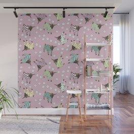 Pajama'd Baby Goats - Pink Wall Mural