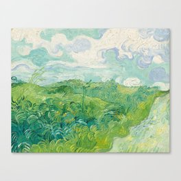 Van Gogh - Green Wheat Fields, Auvers 1890 Canvas Print