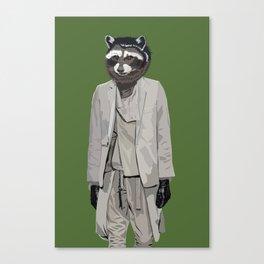 Raccoon wearing Ann Demeulemeester Canvas Print