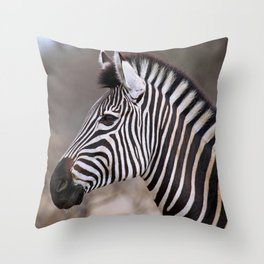 The Zebra - Africa wildlife Throw Pillow