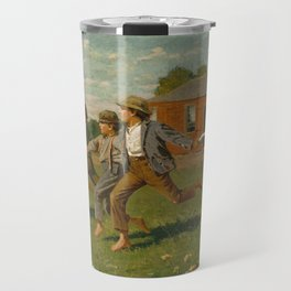 Snap the Whip by Winslow Homer, 1872 Travel Mug