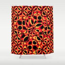 orange red circle pattern Shower Curtain