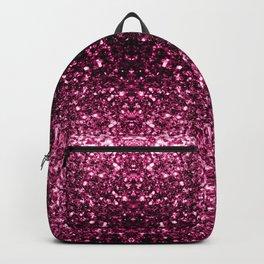 Beautiful Dark Pink glitter sparkles Backpack
