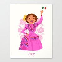 mexico Canvas Prints featuring Mexico  by Melissa Ballesteros Parada