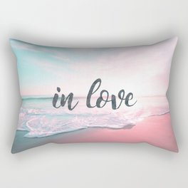 In Love on the beach Rectangular Pillow