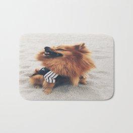 Beach Life Pomeranian Bath Mat
