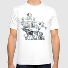 Natural History Mens Fitted Tee MEDIUM White