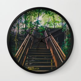 Stairs of Summer and Adventure Wall Clock
