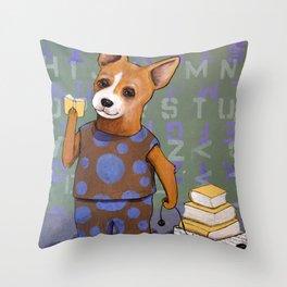 The Reading Wagon Throw Pillow