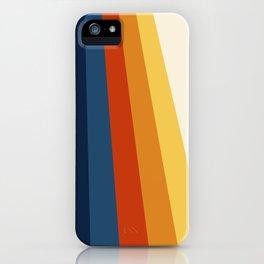 Bright Retro 70's Stripes iPhone Case