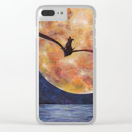 Fly Me To The Moon Clear iPhone Case
