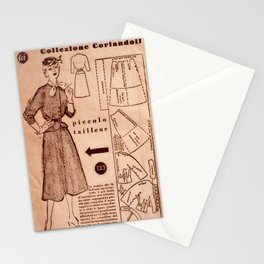 1950's vintage sewing pattern VIII Stationery Cards