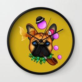 Drunk Dog (yellow) Wall Clock