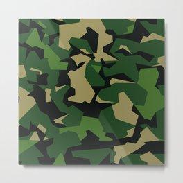 Camouflage Splinter Pattern Green Barret Metal Print