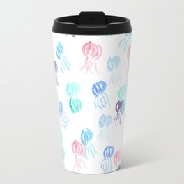 Jellyfish Pattern on White Travel Mug