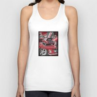mustang Tank Tops featuring 1966 Mustang  by Andrew Sliwinski