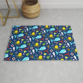 Sea Animals - Cute Pattern Rug
