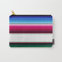 Traditional Mexican Serape in White Multi Carry-All Pouch