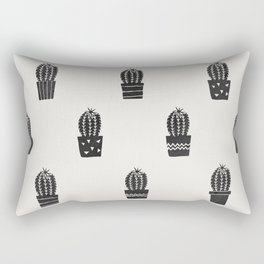 Stamped Potted Cacti Rectangular Pillow