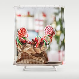 Merry Christmas & Happy New Year Shower Curtain