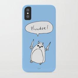 Plunder Penguin iPhone Case