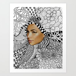 Tangled Face Art Print