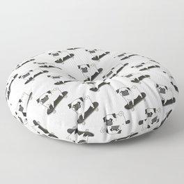 Skateboarding Pug Floor Pillow