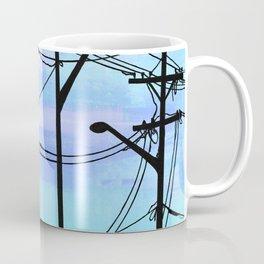 Industrial poles blue Coffee Mug