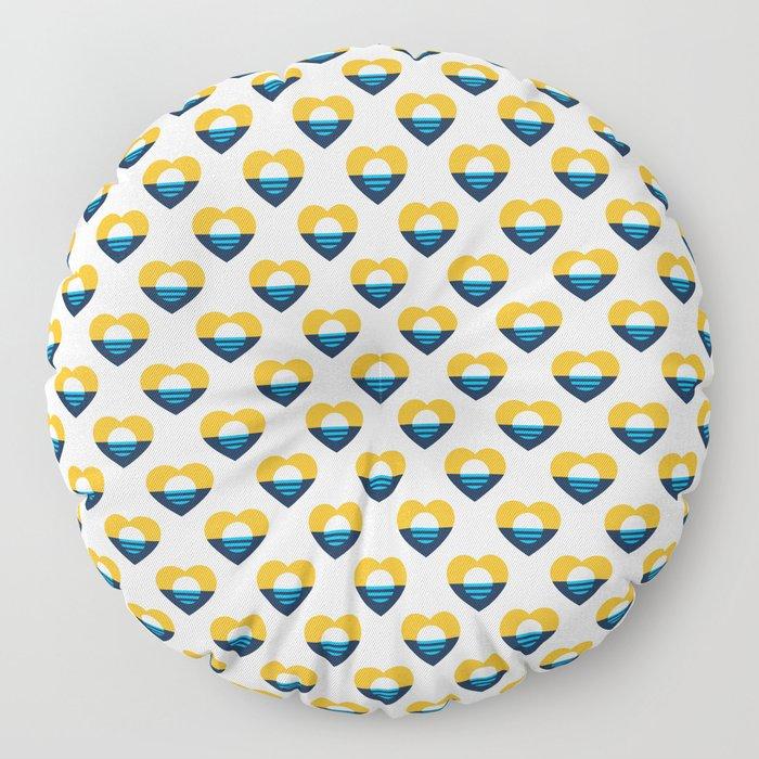 Heart of MKE - People's Flag of Milwaukee Floor Pillow