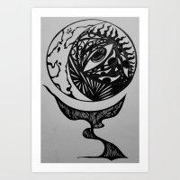 """""""Eye See You"""" World Globe Art Print"""