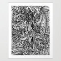 Devourer of Angels Art Print