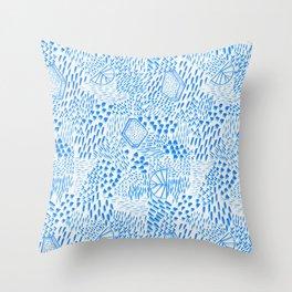 Luminious Way Azores Blue Throw Pillow