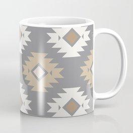 Geometric Aztec - Neutral Brown and Gray Coffee Mug