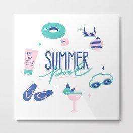 Summer Pool Metal Print