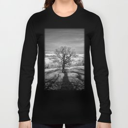 Lone tree over the East Somerset Railway Long Sleeve T-shirt