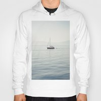 sailboat Hoodies featuring Sailboat by Jakub Majewski