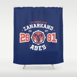 Zanarkand Abes Blitzball Athletic Shirt Distressed Shower Curtain