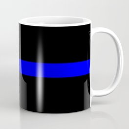 Thin Blue Line Police Flag Coffee Mug