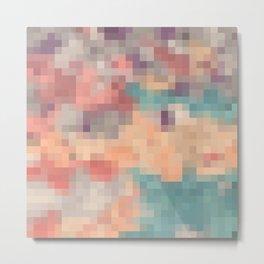 pink purple and blue pixel Metal Print