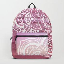 Water Mandala Pink Backpack