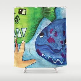 Ham Ham little Hand Shower Curtain