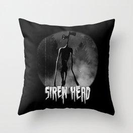 Scary Siren Head vintage meme Throw Pillow