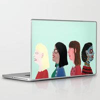 women Laptop & iPad Skins featuring women by Alejandra Hernandez