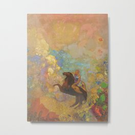 Muse on Pegasus - Odilon Redon Metal Print