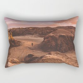 Sunset in Valle De La Luna, Chile Rectangular Pillow