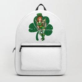 Green Fairy With Cloverleaf - Irish Beauty Backpack