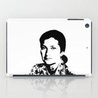 feminism iPad Cases featuring Simone Veil | Feminism by Rue du chat qui peche