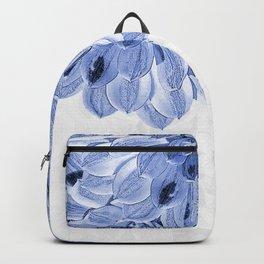 Elegant Blue Flowers Design Backpack